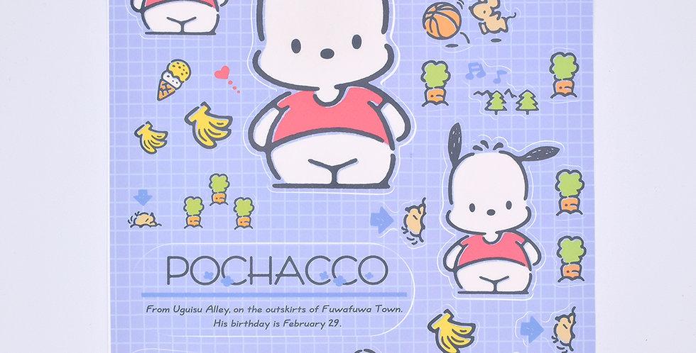 Pochacco Sticker Sheet Large
