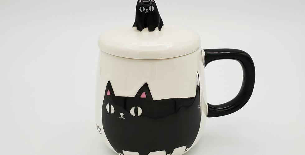Kuro Drinking Mug With Lid