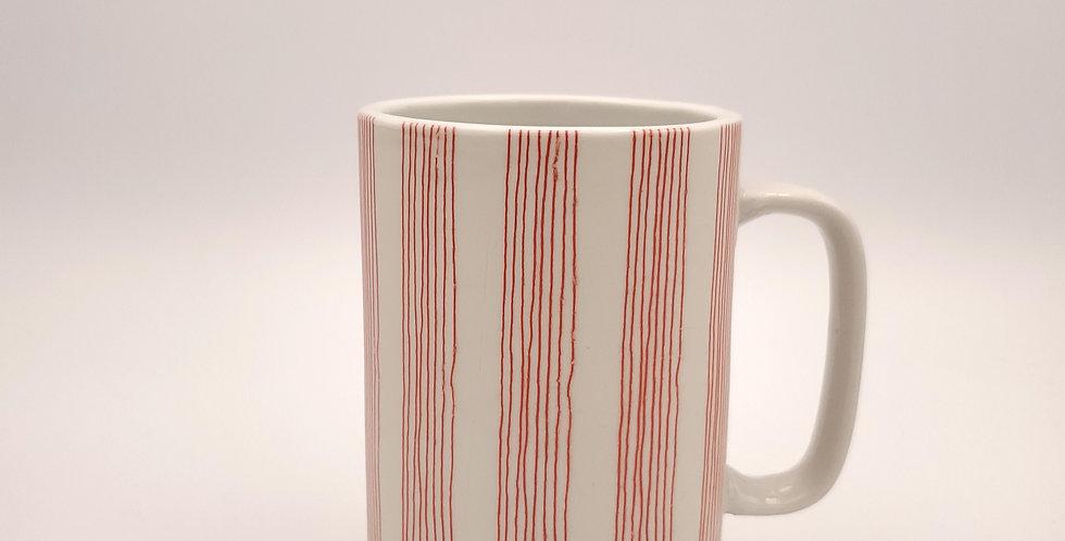 Red Obi Striped Mug