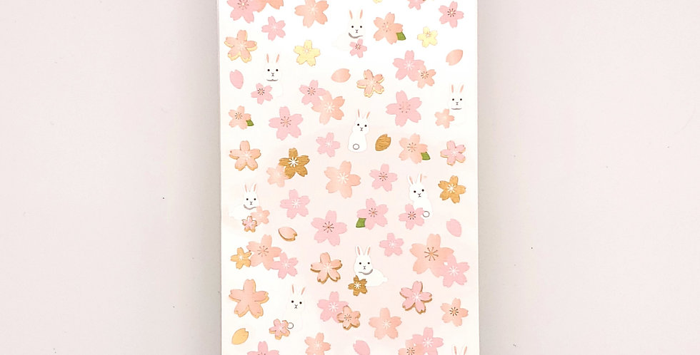 Flower And Bunny Sticker Sheet