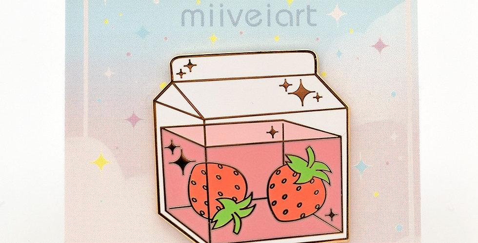 Miiveiart Pin Strawberry Milk