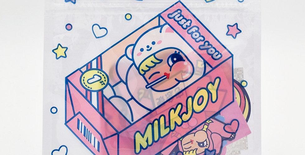 Milkjoy Sticker Zip Pouch