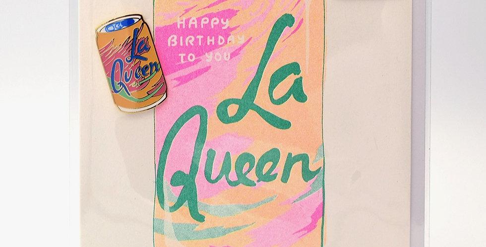 Yellow Owl Workshop Pin Card -La Queen