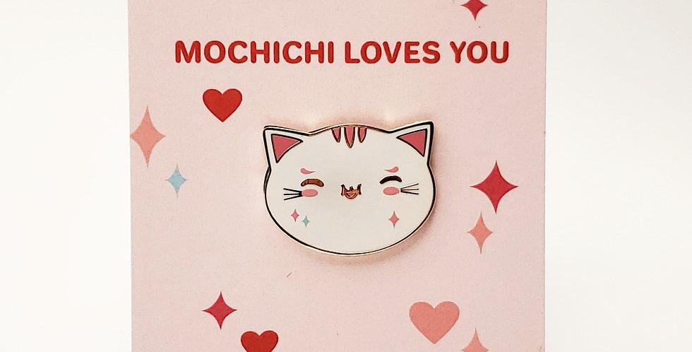 MOCHICHI Loves You Enamel Pin