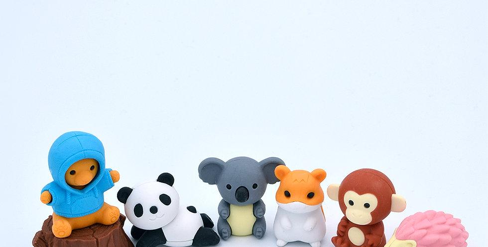 Iwako Forest Animals Eraser Pack