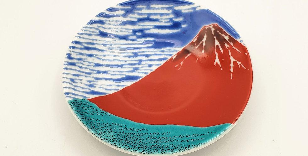 Mt Fuji Round Dish