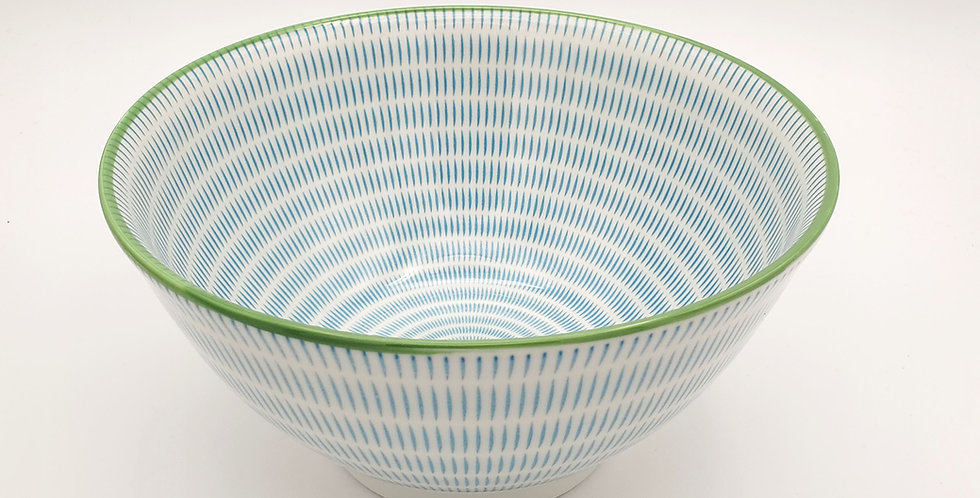 Blue Stripes Ramen Bowl