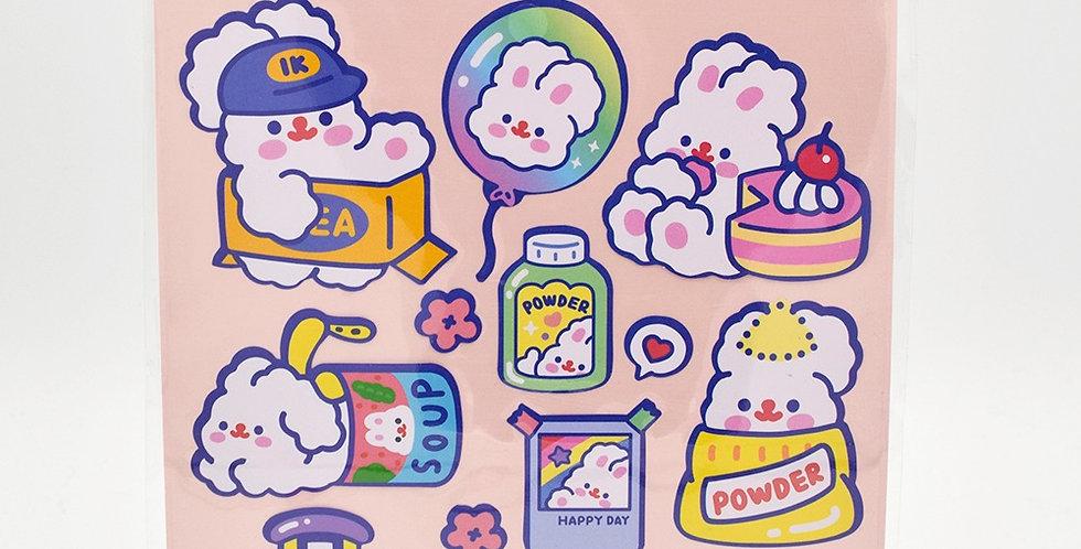 Milkjoy Fluffy Rabbit Sticker Sheet
