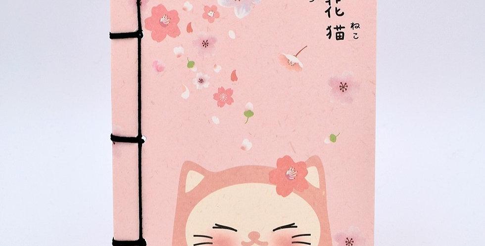 Sakura Flower Kitty Notebook