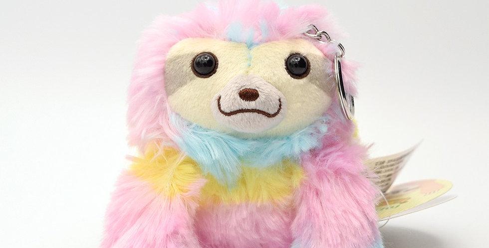 AMUSE Rainbow Sloth Keychain