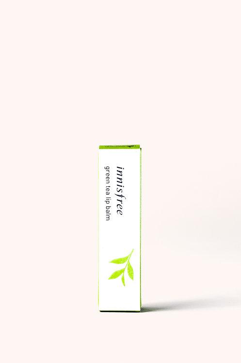 Soft lip balm with green tea
