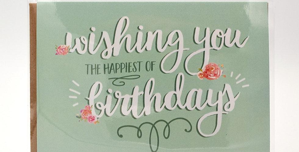 Halifax Paper Hearts Card - Happy Birthday