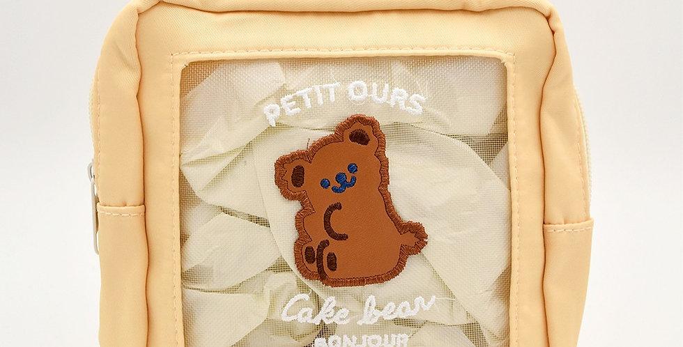Cake Bear Makeup Bag
