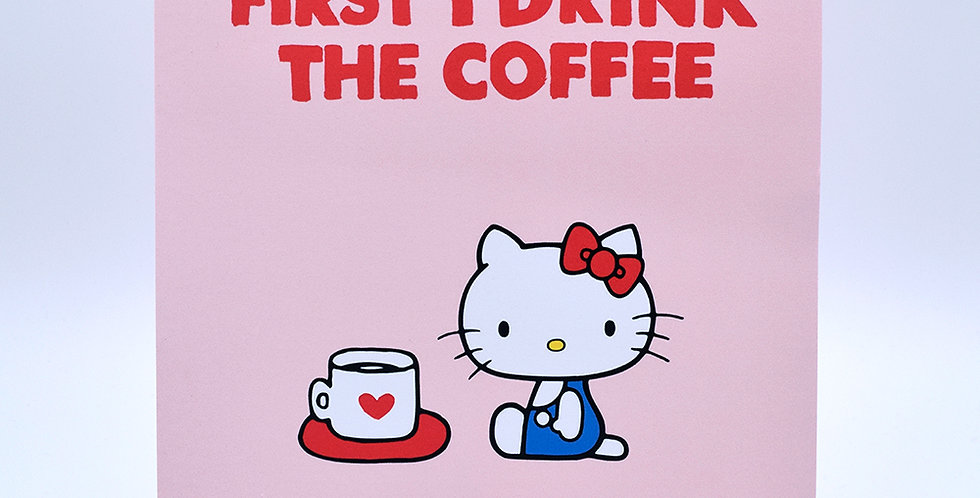 Hello Kitty Drink Coffee Notebook