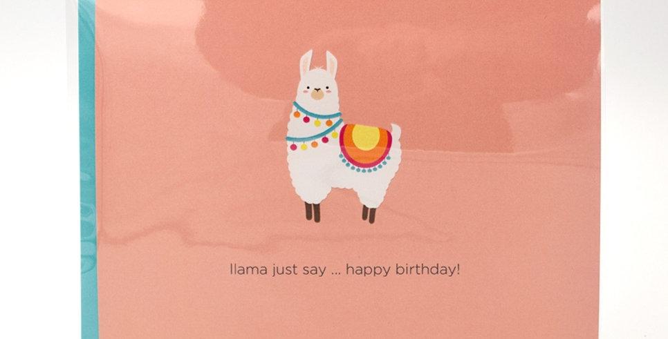 Halifax Paper Hearts Card - Llama