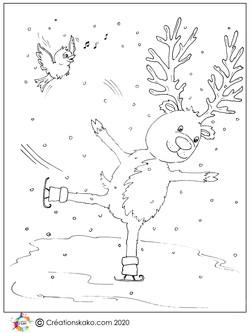 Rudolf en patin