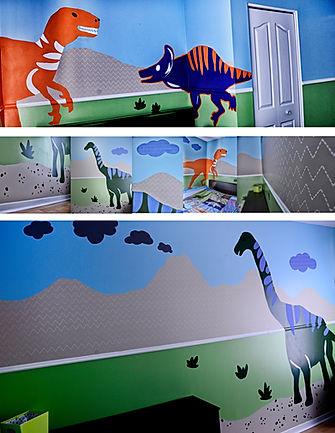 Peinture, murale, fresque, chambre enfant, murs