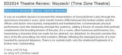 Gareth Somers: Woyzeck