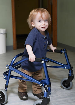 young participant using a walker