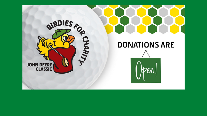Birdies for Charity Donations are now open