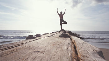 Yoga by the Ocean, yoga pose, wellness, beach, tree pose