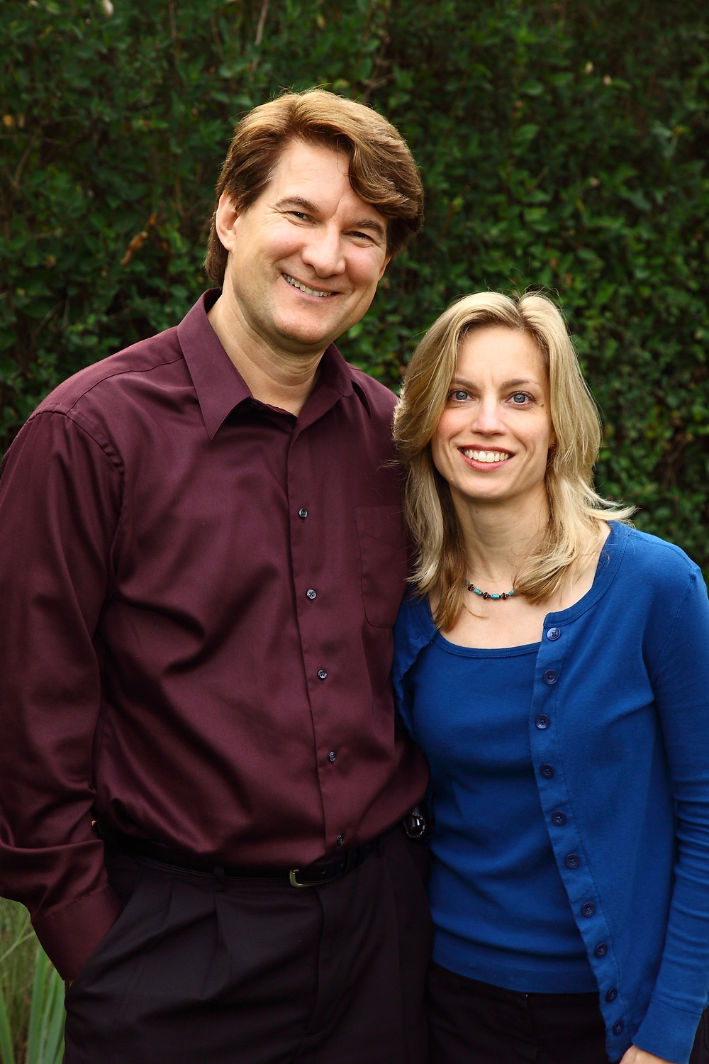My wife, Laura, and me. Photo by Marc Glassman.