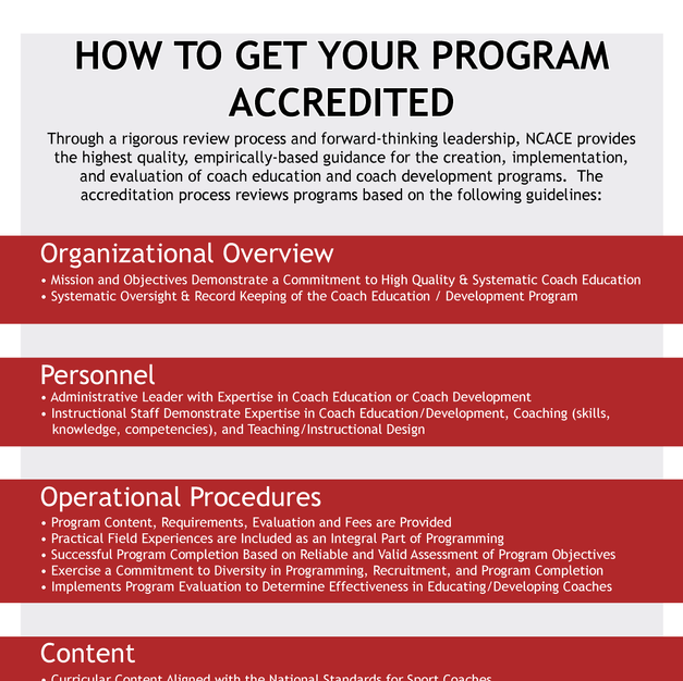 How to get your Program Accredited