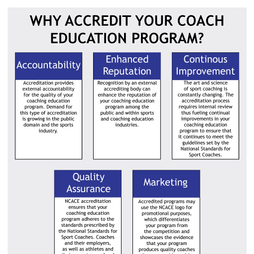 Why Accredit Your Coach Education Program?