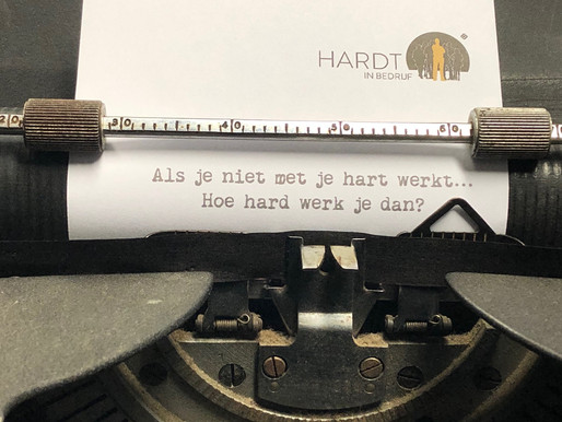 Als je niet met je hart werkt.. hoe hard werk je dan?