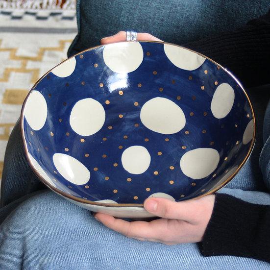 Navy cosmic serving bowl