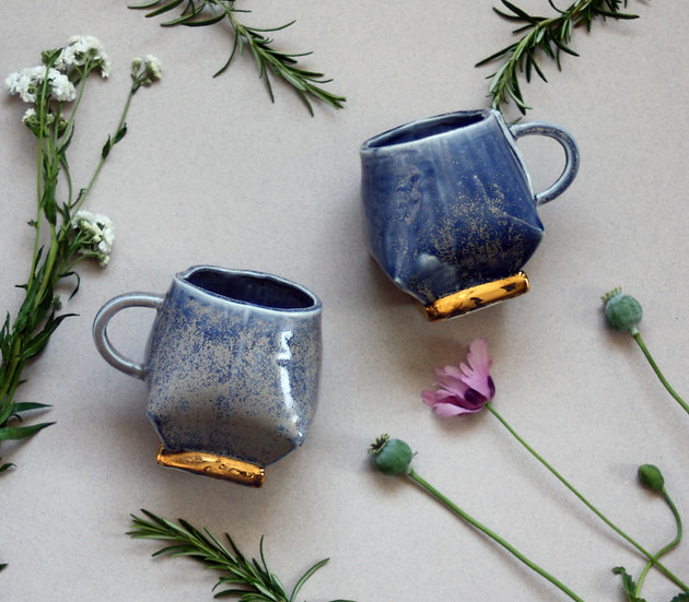 Blue grey mug