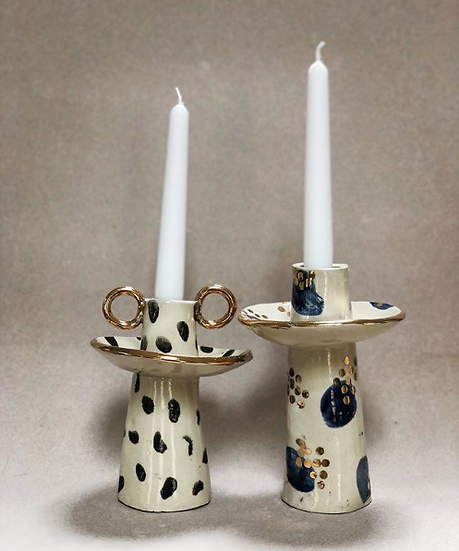 Set of Two Candleholders