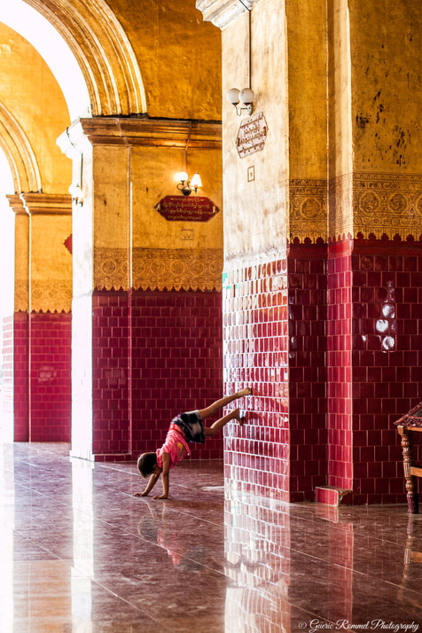 Handstand in the Temple