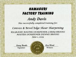 Hamaguri Factory Training 2009