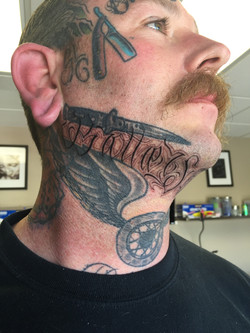 Jaw Line Lettering