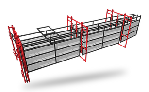 Double Alley Handling Assembly ANGLED -