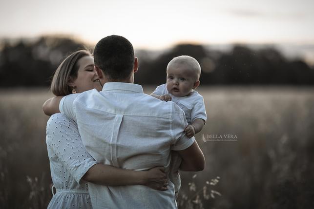 séance photo famille coucher soleil esso