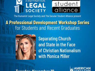 Professional Development Workshop: Separating Church and State in the Face of Christian Nationalism