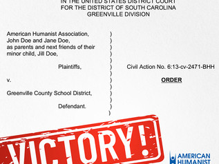 VICTORY: Federal Court Bans School-Sponsored Graduation Prayers in South Carolina School District