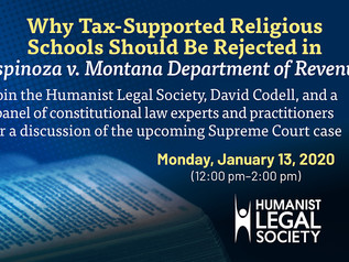 HLS Event: Why Tax-Supported Religious Schools Should Be Rejected in Espinoza v. Montana Department