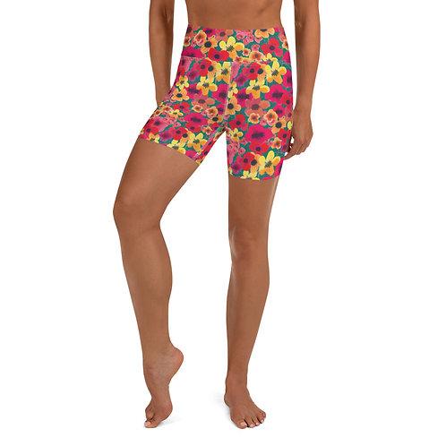 Feisty Flower Yoga Shorts