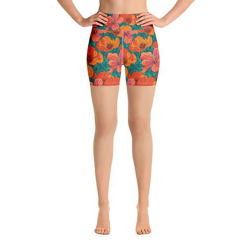 Poppy Patrol Yoga Shorts