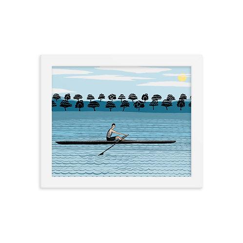River Rower Framed Print