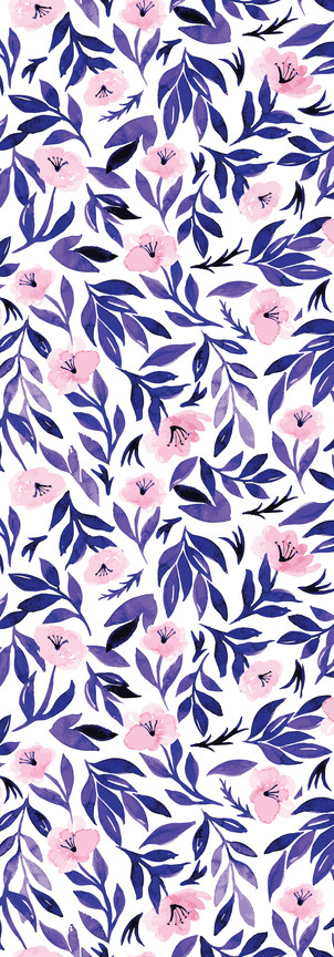 CD0337 - Pink Purple Florals