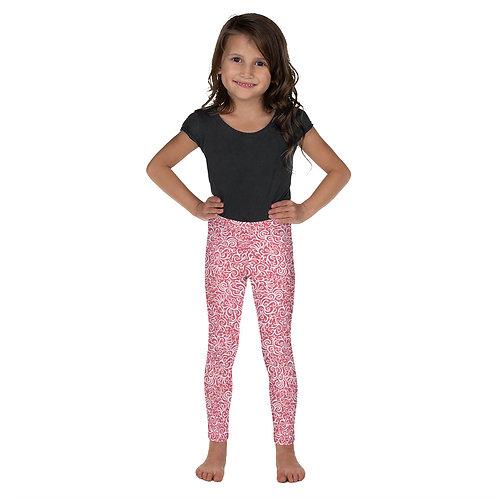 Seamless Swirls Kid's Leggings - Pink
