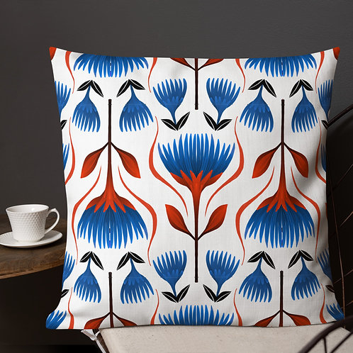 Geometric Floral Premium Pillow - 3 sizes