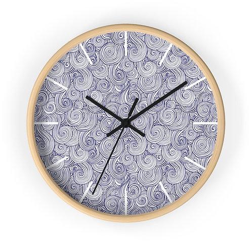 Sea Swirl Wall Clock