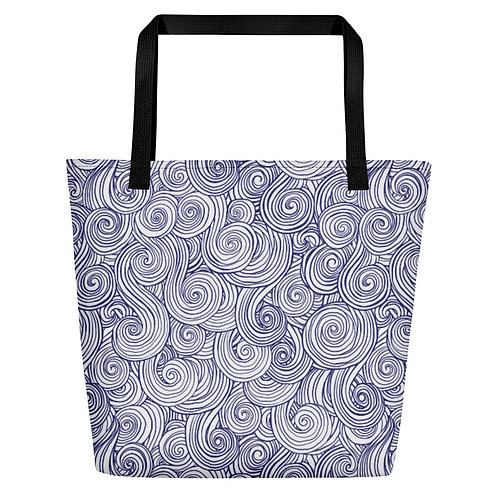 Sea Swirl Beach Bag
