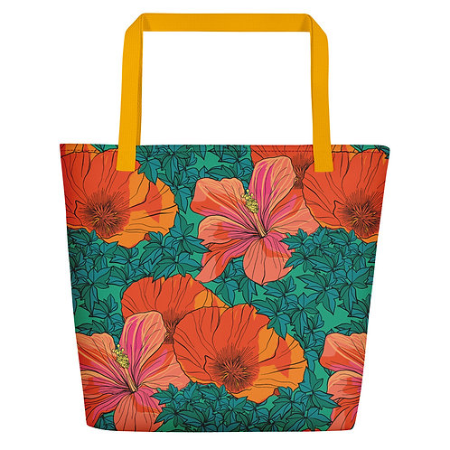 Poppy Patrol Beach Bag