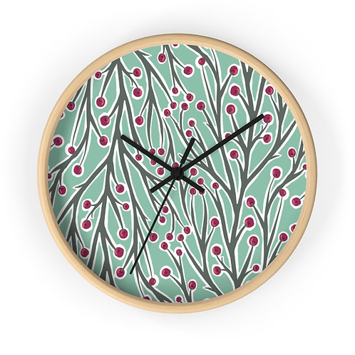Berry and Branch Wall Clock